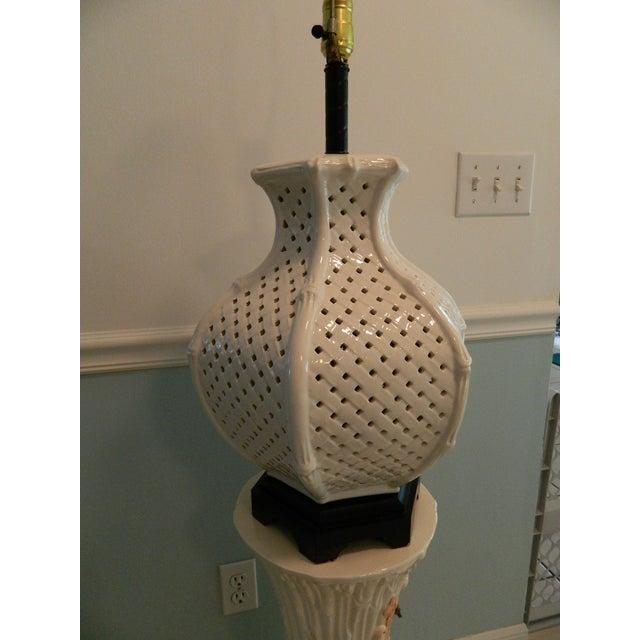 Image of Vintage Nardini Blanc De Chine Pierced Lamp