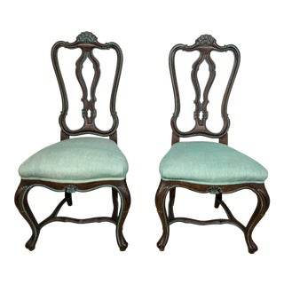 1960s Carved French Style Chairs - A Pair