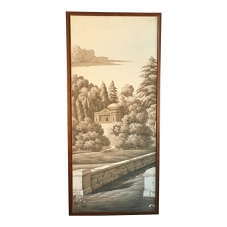 French Scenic Framed Wallpaper Panel
