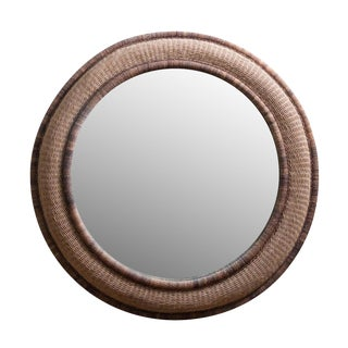 Round Wicker Wall Mirror