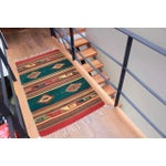 Image of Mexican Pedal-Loom Green Rug - 2′7″ × 4′10″