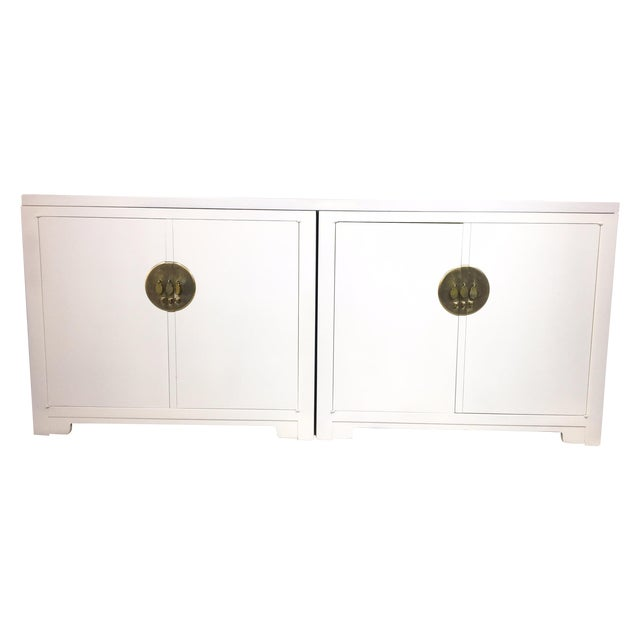 Image of Michael Taylor for Baker White Ming Style Credenza