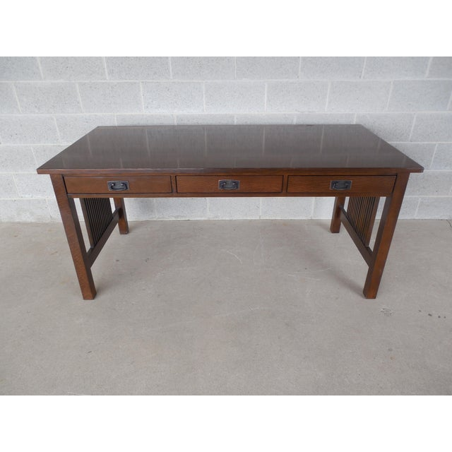 Stickley mission oak writing desk chairish