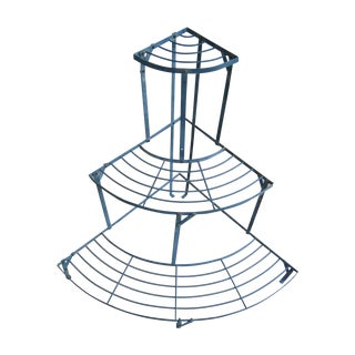 Old French Metal 3 Tier Garden Etagere/Plant Stand
