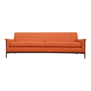 Mid-Century Style Orange Sofa