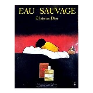 """René Gruau 1978 """"Eau Sauvage"""" Dior Print"""