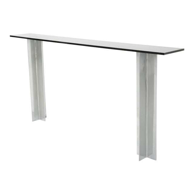 Image of Pace Smoked Glass Console Table