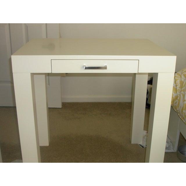 Image of Off-White Pottery Barn Parson Desk