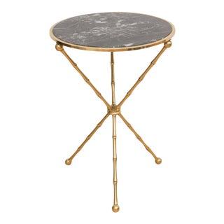 Italian Marble & Brass Side Table