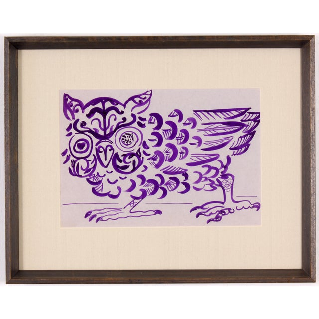 Purple Owl Painting by Phillip Callahan - Image 2 of 5