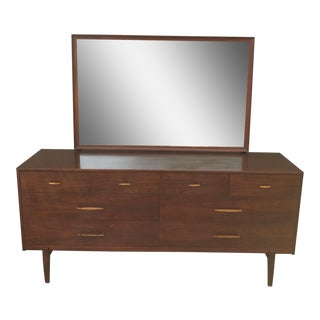 Vintage Ramseur Low Boy Chest of Drawers & Adjustable Tilt Mirror