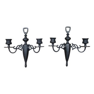Antique Cast Iron Candle Sconces
