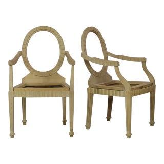 Donghia Style Hollywood Regency Arm Chair Frames - A Pair