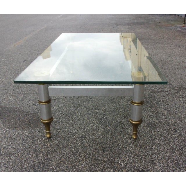 Mid-Century Aluminum & Brass Coffee Table - Image 11 of 11