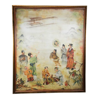 Helen Hatch Means East Asian Style Oil on Canvas Painting