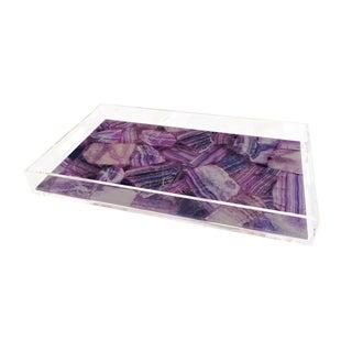 Purple Vedette Tray by Marjorie Skouras