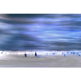 Blue Sailboats Photographic Print