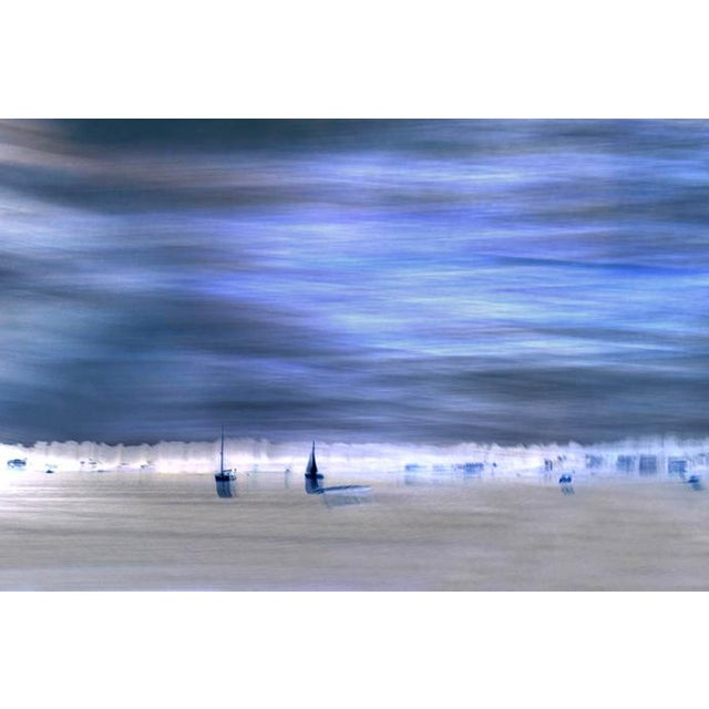 Image of Blue Sailboats Photographic Print