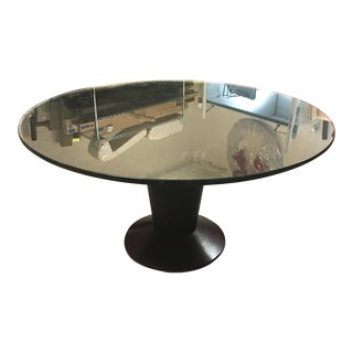 Contemporary Glass Top Pedestal Dining Table