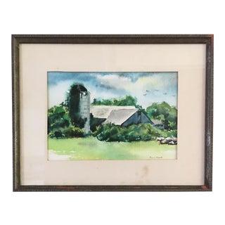 Vintage Amagansett NY Watercolor