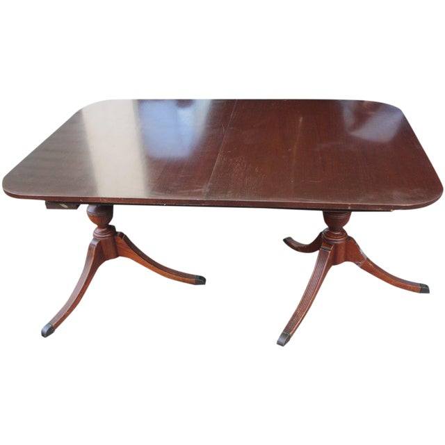 Mahogany Duncan-Phyfe Dining Table - Image 1 of 5