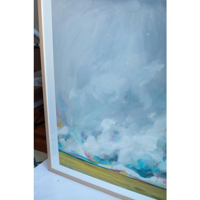 Image of Large Framed Pastel Landscape Print