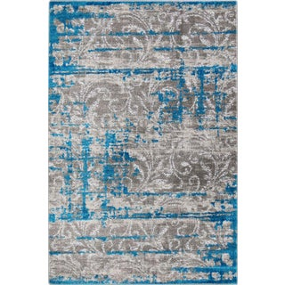 Hipster-Scroll-Vine-Bright-Blue - 5'3'' x 7'7''