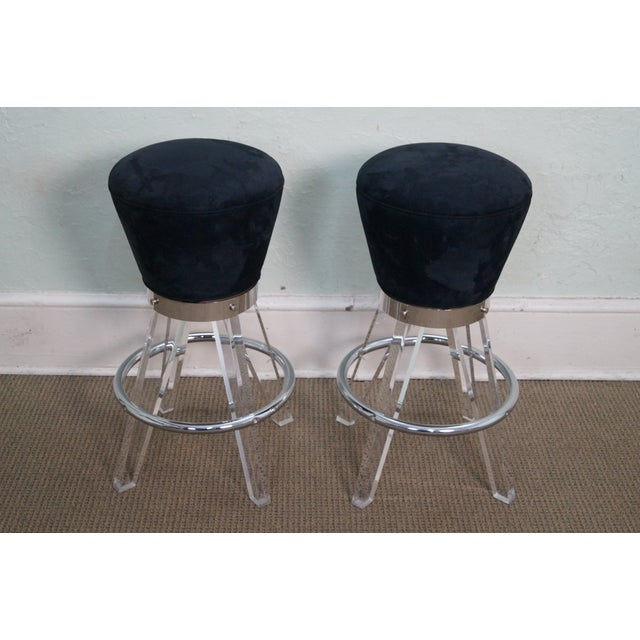 Image of H. Studio Lucite Gumdrop Bar Stools by Haziza (A)