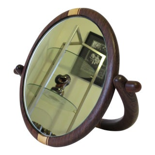 Exotic Wood Table Top Mirror
