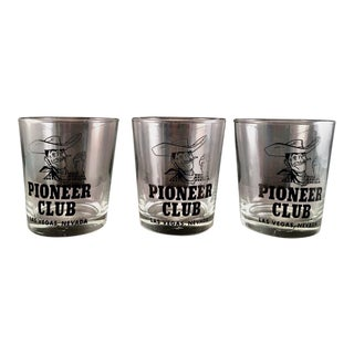 Pioneer Club Las Vegas Low Ball Glasses - Set of 3