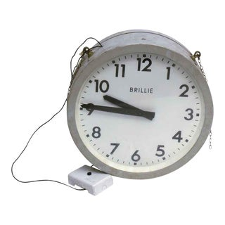 Double Sided Round Brille Clock