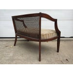 Mahogany And Rattan Back Paneled Settee Chairish