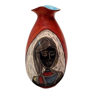 Marcello Fantoni Italian Modernist Leather Vase