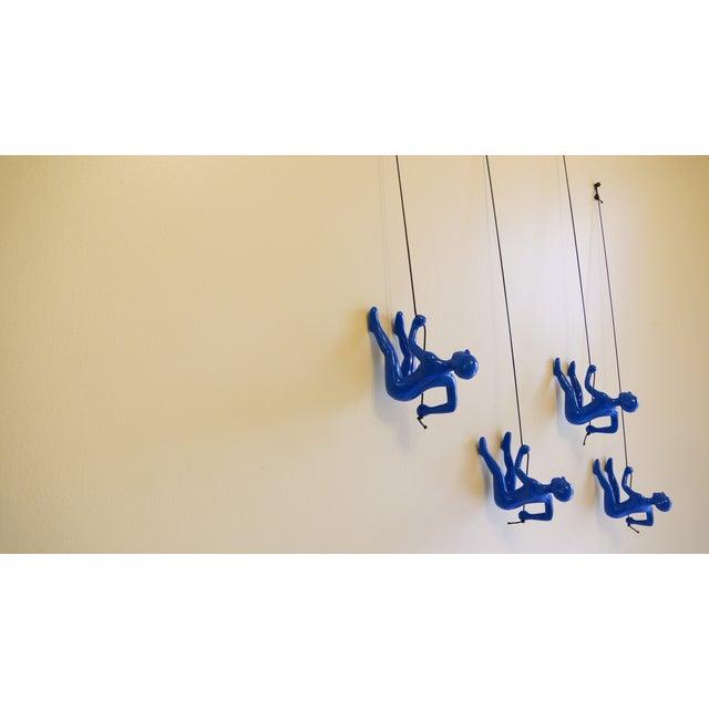 Blue Position 2 Climbing Man Wall Art - Set of 4 - Image 3 of 7