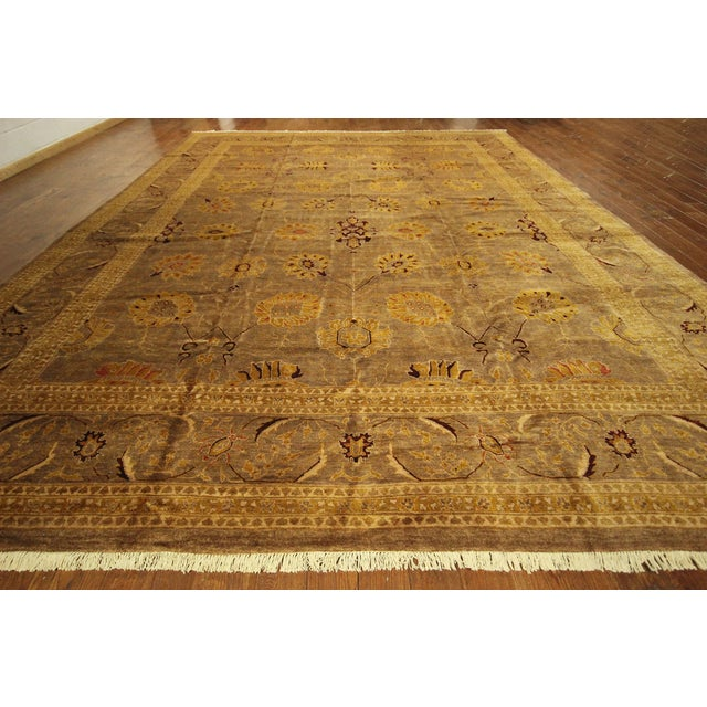 """Oushak Collection Brown Rug - 12'1"""" x 15'10"""" - Image 3 of 10"""