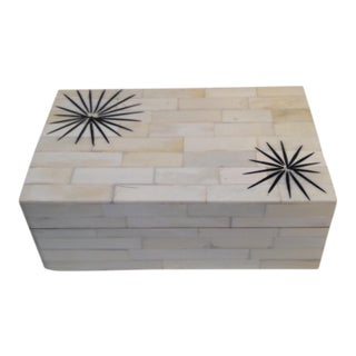 Starburst Inlay Bone Box