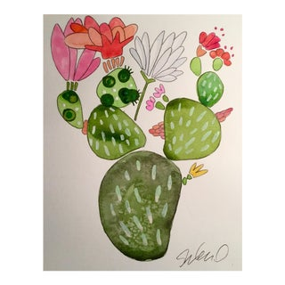 """""""Party Cactus"""" Watercolor Painting"""