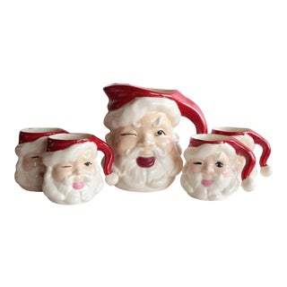 Winking Santa Beverage Set