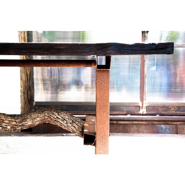 Wabi-Sabi Yakisugi Wood Dining Island Table Console - Image 5 of 11