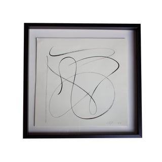Minimal Abstract in Black Square Frame
