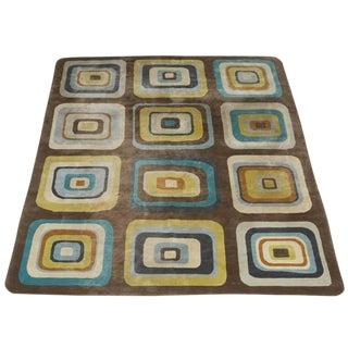 "Angela Adams Geometric Custom Wool Area Rug - 10' x 13'2"""