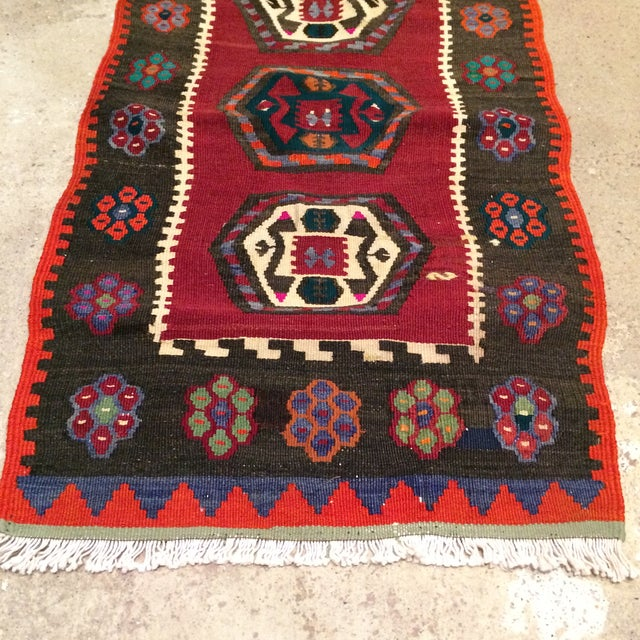 "Vintage Turkish Anatolian Kilim - 1'9"" X 3'5"" - Image 3 of 5"