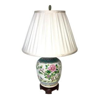Famille Verte Chinese Porcelain Vase Lamp