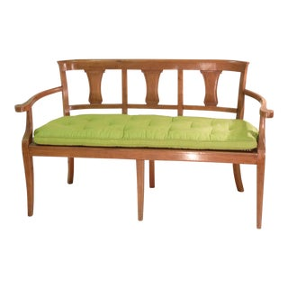 Vintage French Cherrywood Settee