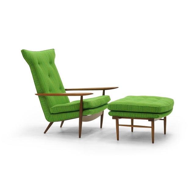 Rare George Nakashima for Widdicomb High Back Lounge Chair and Ottoman - Image 2 of 11
