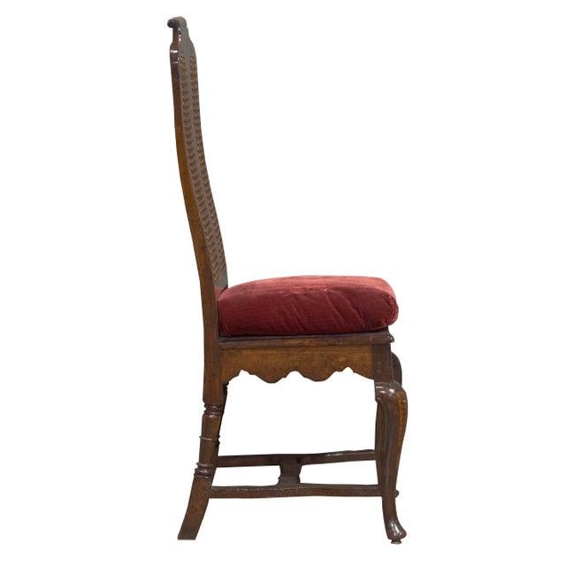 Antique Sarreid LTD Walnut Dining Chairs - Set of 4 - Image 3 of 3