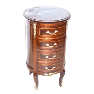 French 4-Drawer Round Chest