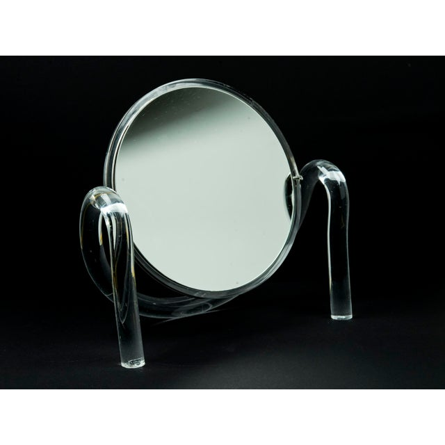 Dorothy Thorpe Lucite Tabletop Make-Up Mirror - Image 2 of 5
