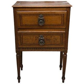 19th Century, Italian Walnut Louis XVI Style Side Cabinet