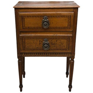 19th Century, Italian Walnut Louis XVI Style Side Cabinet